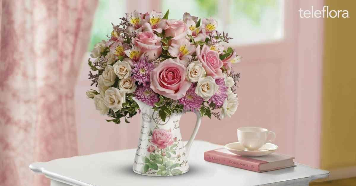She'll Love Her Bouquet in a Vintage-Style Pitcher