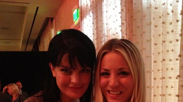 Pauley Perrette and Kaley Cuoco