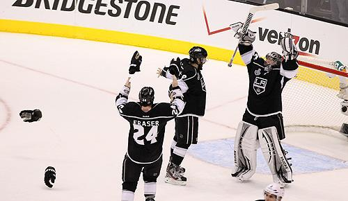 Los Angeles Kings celebrate winning the first Stanley Cup in franchise history in 2012