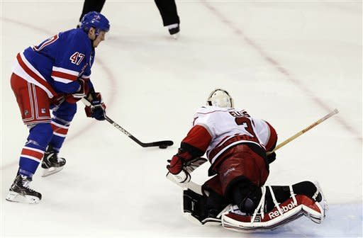 Miller's SO goal lifts Rangers over Hurricanes