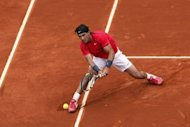 Spain's Rafael Nadal during the French Open men's singles fourth round match against Argentina's Juan Monaco on June 4. Nadal's steely focus will be riveted on Nicolas Almagro as the Majorcan continues his quest to become the first man to win seven French Open titles