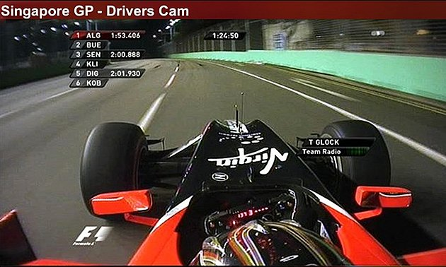 Dive into the drivers' seat for a unique view of this year's Singapore Grand Prix. (Photo courtesy of ESPN)