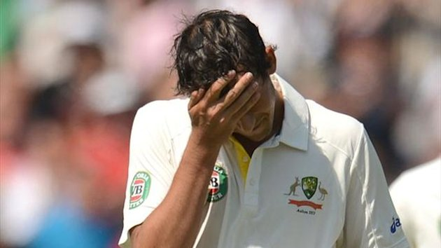Australia's Ashton Agar is bewildered after being given out at Lord's (Reuters)