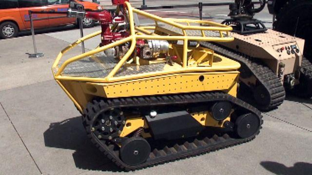 Firefighting robots to help fire crews battling wildfires