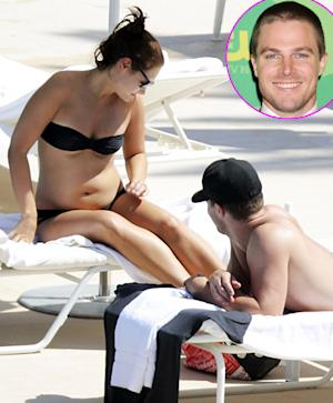 Stephen Amell Goes Shirtless, Wife Cassandra Jean Shows Off Pregnant Bikini Body: Picture