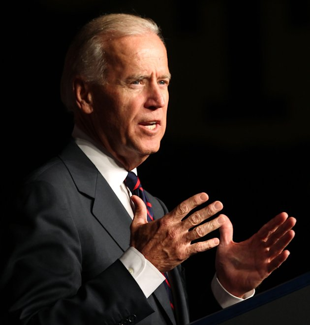 Vice President Joe Biden gives the commencement speech at Thursday, June 14, 2012, afternoon's graduation ceremony for Tallwood High School at the Virginia Beach Convention Center in Virginia Beach, V