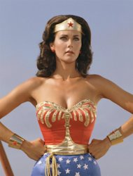 Lynda Carter as the original 1970s TV show Wonder Woman