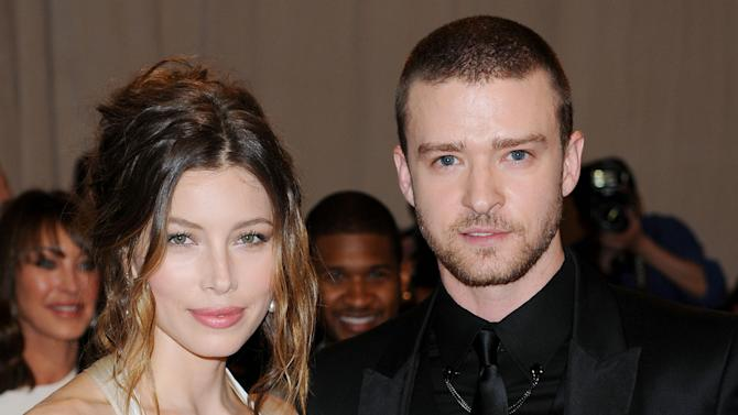FILE - This May 3, 2010 file photo shows actress Jessica Biel and actor-singerJustin Timberlake at the Metropolitan Museum of Art Costume Institute gala in New York. The couple released a statement Friday, Oct. 19, 2012, to People magazine confirming their wedding.  They said the ceremony was beautiful and it was special to be surrounded by our family and friends.   (AP Photo/Evan Agostini, file)