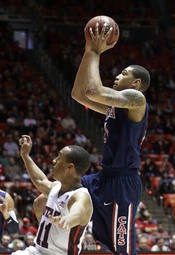 Mark Lyons helps No. 9 Arizona edge Utah 68-64