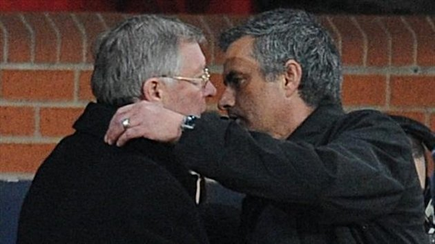 Sir Alex Ferguson, left, could face Jose Mourinho, right, again in the Premier League next season