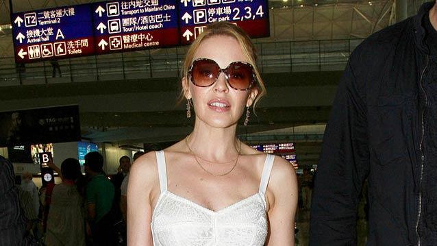 Kylie Minogue Hong Kong Airport