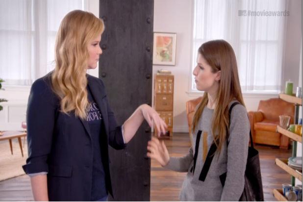 Amy Schumer Is Trying Way Too Hard With Anna Kendrick in First MTV Movie Awards Promo (Video)