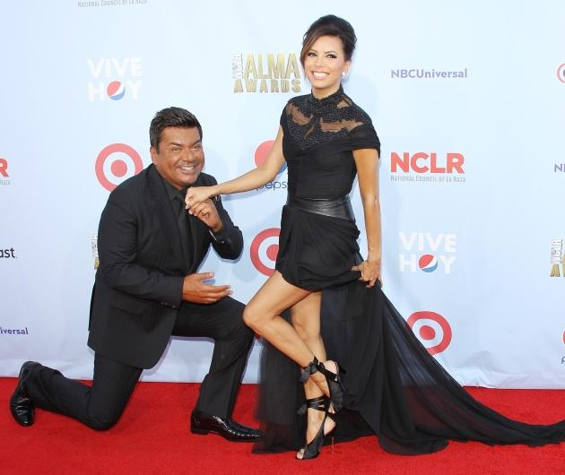 George Lopez and Eva Longoria arrive at the NCLR 2012 ALMA Awards held at Pasadena Civic Auditorium in Pasadena, Calif. on September 16, 2012 -- Getty Premium