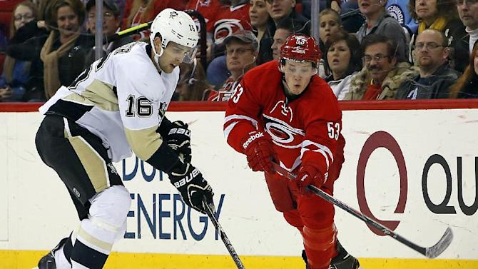 Neal's goal in OT lifts Penguins past Canes 4-3