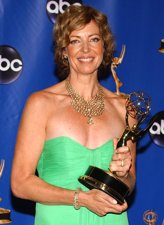 Allison Janney, winner of Outstanding Lead Actress in a Drama Series for &quot;The West Wing&quot; at The 56th Annual Primetime Emmy Awards. 