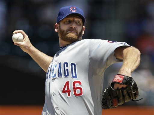 Dempster runs scoreless streak to 27 in Cubs' win