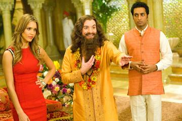 Jessica Alba , Mike Myers and Manu Narayan in Paramount Pictures' The Love Guru