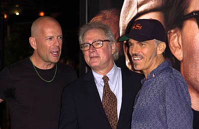 Bruce Willis , Barry Levinson and Billy Bob Thornton at the Westwood premiere of MGM's Bandits
