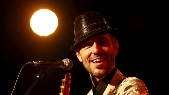 Singer Charlie Winston performs during the Jazzablanca World & Jazz Music Festival in Casablanca