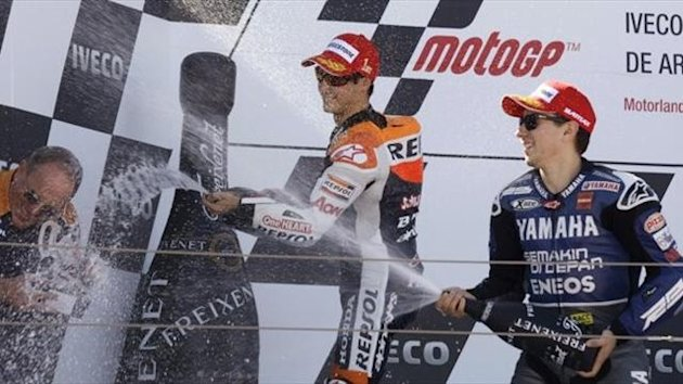 2012, Pedrosa, Lorenzo, Aragon, Reuters
