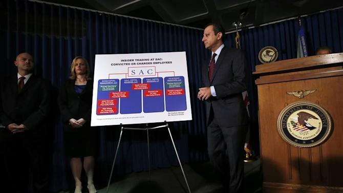 United States Attorney Preet Bharara speaks during a news conference in New York