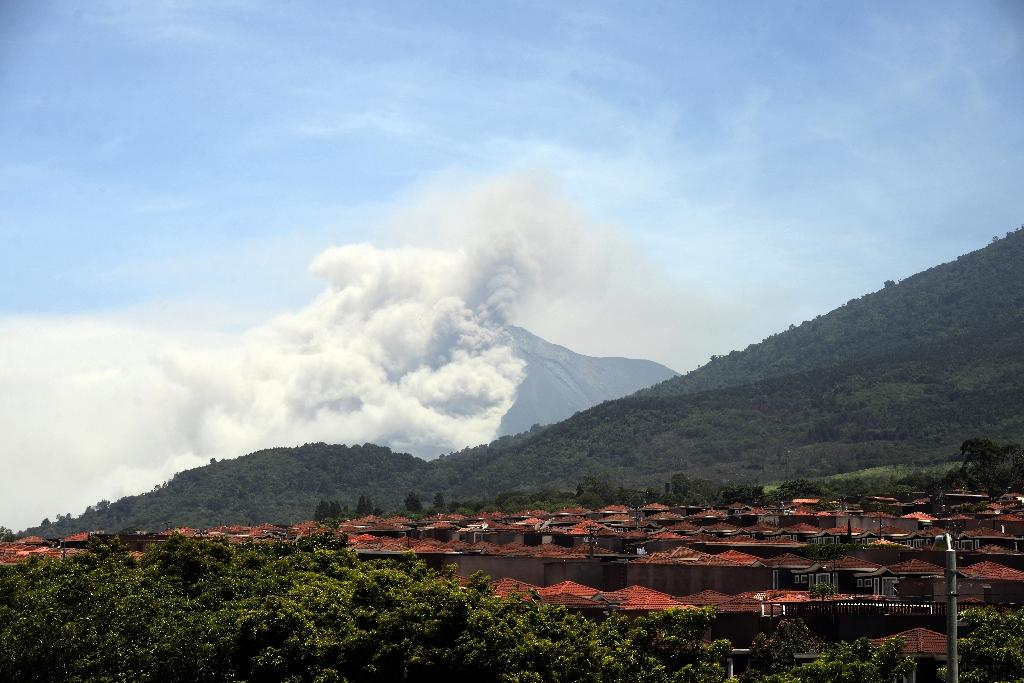 Guatemala's Fire Volcano spews ash on nearby towns