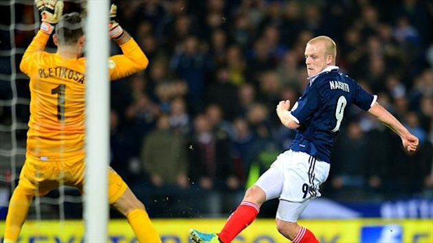 Steven Naismith filled the lone striker role but was not isolated at all against a team ranked 10th in the world