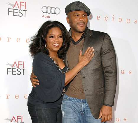 "Tyler Perry: Oprah ""Strained Her Back"" Picking Up My Flower Arrangement Birthday Gift"
