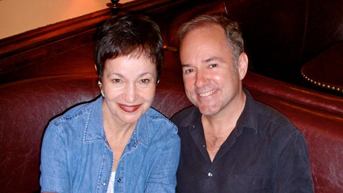 """This Sept. 10, 2013 photo shows lyricist Lynn Ahrens, left, and composer Stephen Flaherty at the Broadway nightclub 54 Below in New York. The duo, who have written the music to the Tony Award-winning """"Ragtime"""" and the Academy Award-nominated film """"Anastasia,"""" are celebrating 30 years together with a concert series. (AP Photo/Keith Sherman & Associates, Brett Oberman)"""