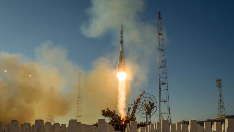 This NASA handout photo shows the Soyuz TMA-11M rocket being launched on November 7, 2013 at the Baikonur Cosmodrome in Kazakhstan