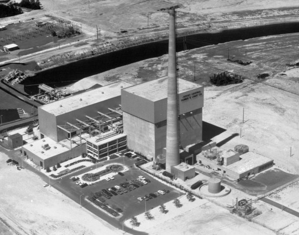 "FILE - This July 12, 1972 file picture shows the Oyster Creek nuclear power plant in Lacey Township, N.J. Called ""Oyster Creak"" by some critics because of its aging problems, this boiling water reactor began running in 1969 and ranks as the country's oldest operating commercial nuclear power plant. Its license was extended in 2009 until 2029, though utility officials announced in December 2010 that they'll shut the reactor 10 years earlier, rather than build state-ordered cooling towers. (AP Photo)"