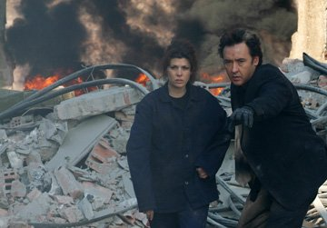 Marisa Tomei and John Cusack in First Look Pictures' War, Inc.