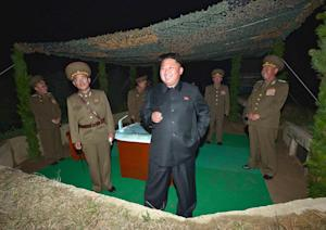 This picture released by North Korea's official …