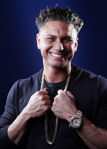 In this March 27, 2012 photo, TV personality Paul &quot;Pauly D&quot; DelVecchio poses for a portrait in New York. DelVecchio will have his own spin-off of &quot;Jersey Shore&quot; called &quot;The Pauly D Project,&quot; premiering March 29 on MTV. (AP Photo/Carlo Allegri)