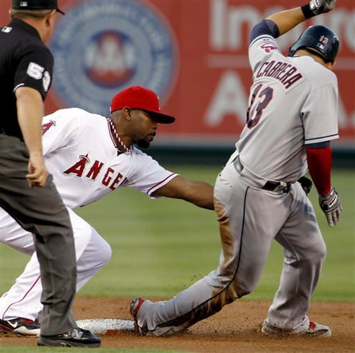 Masterson silences Angels in Indians' 6-2 win
