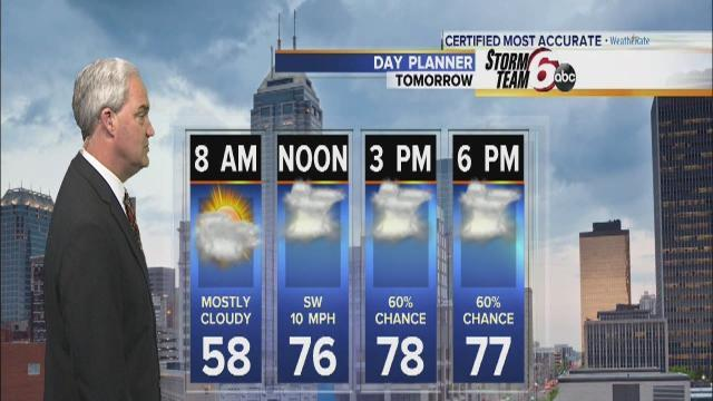 T'storms possible Thursday