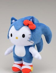 The Hello Kitty / Sonic the Hedgehog crossover plush doll