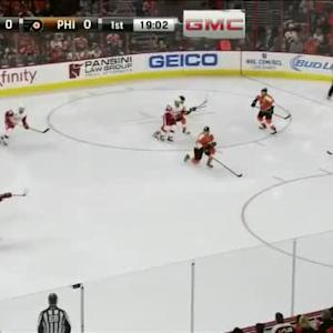Ray Emery Save on Kyle Quincey (01:00/1st)