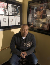 FILE - This Feb. 28, 2007 file photo shows hip-hop mogul Chris Lighty in his office in New York. Lightly died of an apparent gunshot wound on Thursday, Aug. 30, 2012 at his home in the Bronx borough of New York. He was 44. Lighty was the man behind raps leading figures, helping them not only attain hit records, but lucrative careers outside of music. He had been a part of the rap scene for decades, working with pioneers like LL Cool J, KRS-One before starting his own management company, Violator. (AP Photo/Jim Cooper, file)