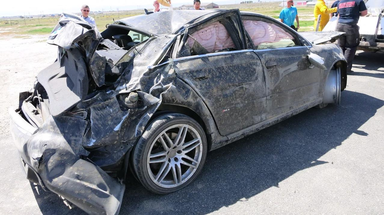 Insane video puts you in the driver's seat as a 420HP Audi RS 4 rolls into a devastating crash