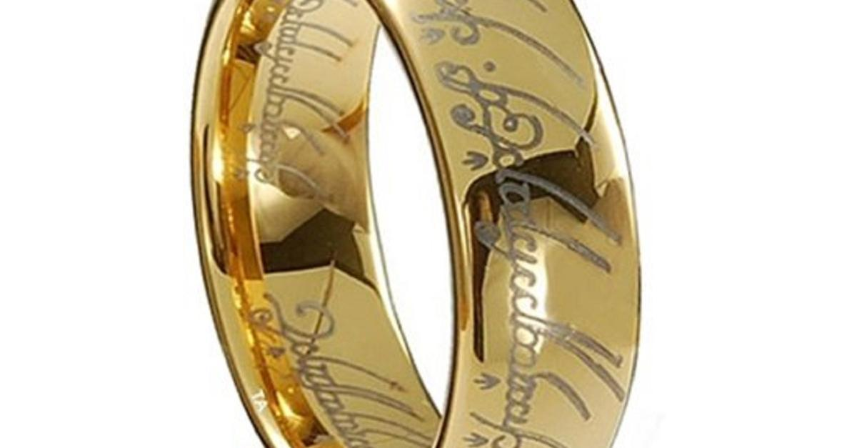 Real Gold Lord of the Rings Tungsten Rings - $50