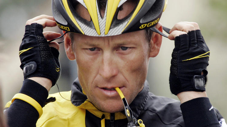 FILE - In this Feb. 22, 2009 file photo,  Lance Armstrong prepares for the final stage of the Tour of California cycling race in Rancho Bernardo, Calif.  The U.S. Anti-Doping Agency is bringing doping charges against the seven-time Tour de France winner, questioning how he achieved those famous cycling victories.  Armstrong, who retired from cycling last year, could face a lifetime ban from the sport if he is found to have used performance-enhancing drugs. He maintained his innocence, saying: