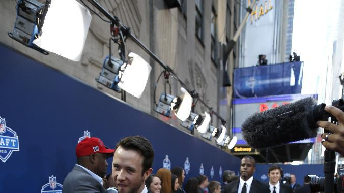 IMAGE DISTRIBUTED FOR NEW ERA CAP - The official 2013 New Era NFL Draft Caps are delivered to Radio City Music Hall, on Thursday April 25, 2013. (John Minchillo/AP Images for New Era Cap)