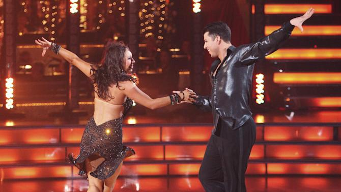 "In this Nov. 14, 2011 image released by ABC, TV Personality Rob Kardashian, right, and his partner Cheryl Burke perform on the celebrity dance competition series ""Dancing with the Stars,"" in Los Angeles. (AP Photo/ABC, Adam Taylor)"