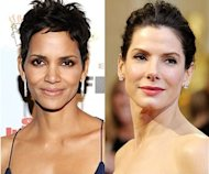 Halle Berry and Sandra Bullock. Photo: Michael Bucker, Getty Images for Celebrity Fight Night, Getty Images