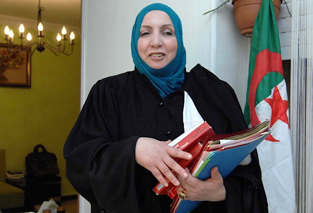 Zahia Mokhtari, lawyer for Mohamed Benallal Merah, the father of Mohamed Merah, in Algiers, Thursday, March, 29, 2012. Mokhtari says she has evidence that the man accused of killing seven people in attacks in southwestern France claimed his innocence to police. Mohamed Merah was killed after a more than 30-hour standoff with authorities, who have said he confessed to the killing spree and refused to surrender peacefully. (AP Photo/ Sidali Djarboub)
