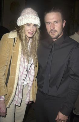 Daryl Hannah and David Arquette Masked and Anonymous Party Sundance Film Festival 1/22/2003