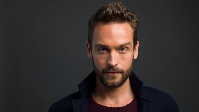 """In this Monday, Jan. 13, 2014 photo, English actor and star of the FOX network series """"Sleepy Hollow,"""" Tom Mison poses for a portrait, in New York. (Photo by Scott Gries/Invision/AP)"""