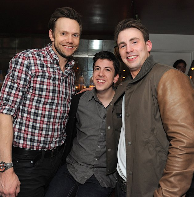 2011 MTV Movie Awards Backstage Joel McHale Christopher Mintz Plasse Chris Evans