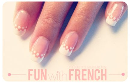 Swiss Dot French Manicure